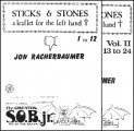 Sticks and Stones: a leaflet for the left hand by Jon Racherbaumer
