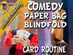 Comedy Paper Bag Blindfold Card Routine by Wolfgang Riebe