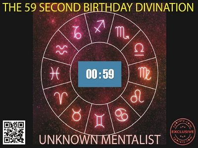 The 59 Second Birthday Divination by Unknown Mentalist