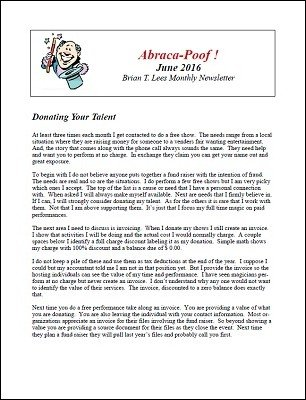 Abraca-Poof June 2016 by Brian T. Lees