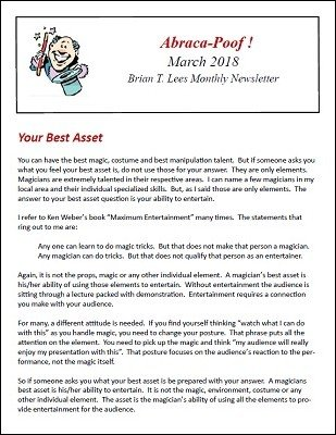 Abraca-Poof March 2018 by Brian T. Lees