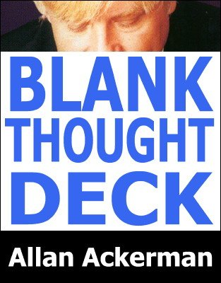 Blank Thought Deck by Allan Ackerman