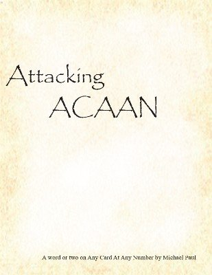 Attacking ACAAN by Michael Paul
