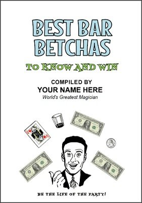 Best Bar Betchas (Pitch Book Publishing Kit) by B. W. McCarron