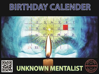 Birthday Calendar by Unknown Mentalist