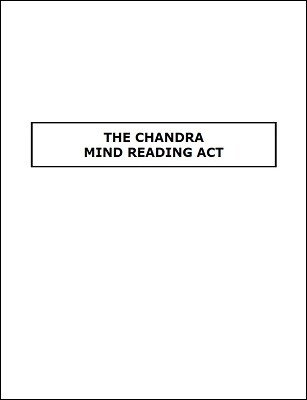 Chandra Mind Reading Act by James S. Harto