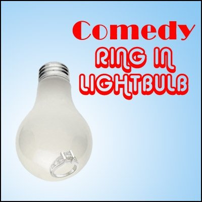 Comedy Ring in Lightbulb by Devin Knight