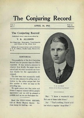 Conjuring Record (Apr 1913 - Feb 1915) by Van K. Allison