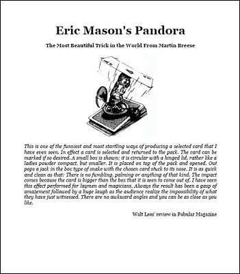 Eric Mason's Pandora (Instructions) by Eric Mason