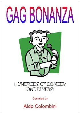 Gag Bonanza: hundreds of comedy one-liners by Aldo Colombini