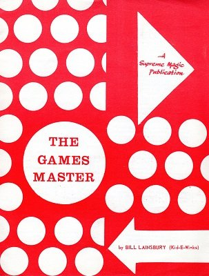 The Games Master by Bill Lainsbury