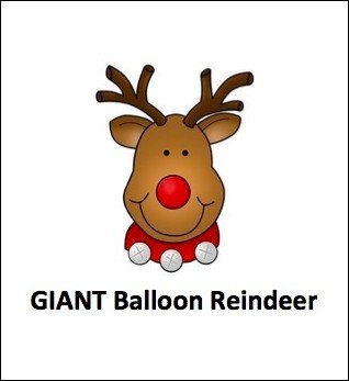 Giant Balloon Reindeer by Dave Arch