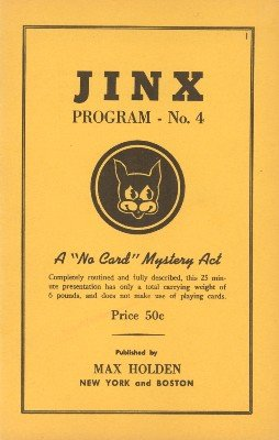 Jinx Program No. 4 by Ted Annemann