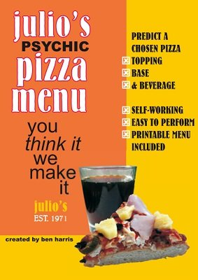 Julio's Psychic Pizza Menu by (Benny) Ben Harris