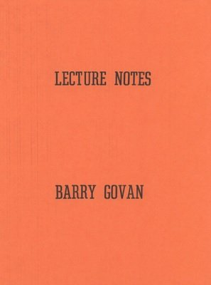 Lecture Notes by Barry Govan