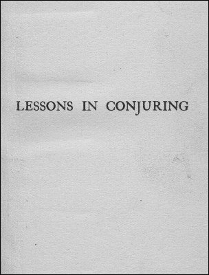 Lessons in Conjuring by David Devant