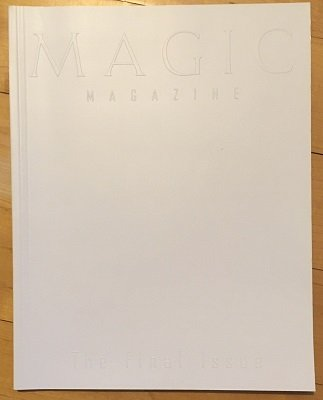 Magic Magazine Final Issue (used) by Stan Allen