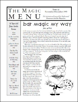 Magic Menu volume 6, number 32 (Nov - Dec 1995) by Jim Sisti