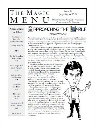 Magic Menu volume 6, number 36 (Jul - Aug 1996) by Jim Sisti