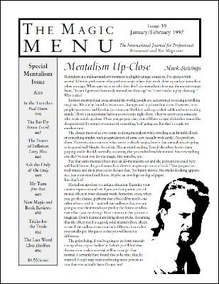 Magic Menu volume 7, number 39 (Jan - Feb 1997) by Jim Sisti