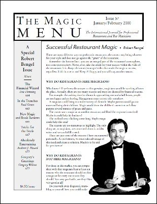 Magic Menu volume 10, number 57 (Jan - Feb 2000) by Jim Sisti