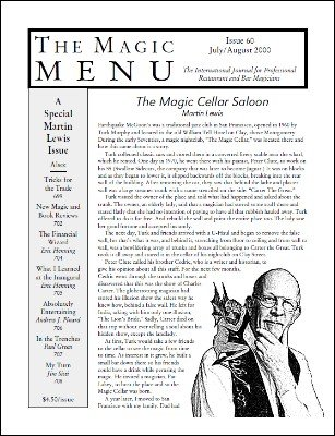 Magic Menu volume 10, number 60 (Jul - Aug 2000) by Jim Sisti