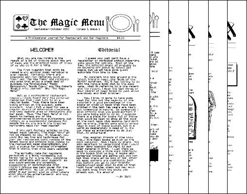Magic Menu volume 1 (Sep 1990 - Aug 1991) by Jim Sisti