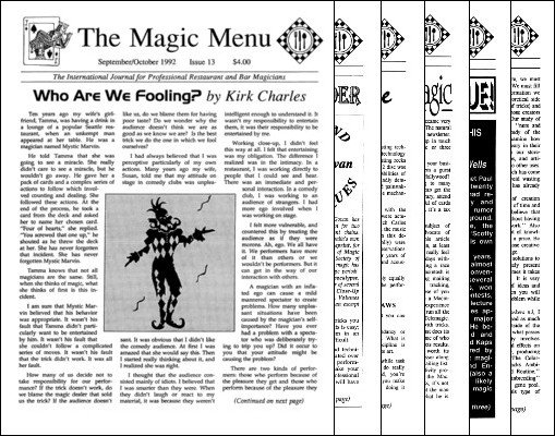 Magic Menu volume 3 (Sep 1992 - Aug 1993) by Jim Sisti