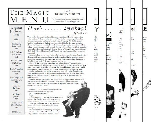 Magic Menu volume 6 (Sep 1995 - Aug 1996) by Jim Sisti