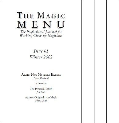 Magic Menu volume 11 (2002) by Jim Sisti