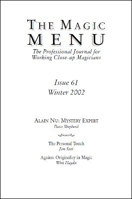 Magic Menu volume 11, number 61 (winter 2002) by Jim Sisti