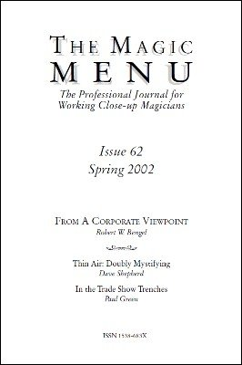 Magic Menu volume 11, number 62 (spring 2002) by Jim Sisti