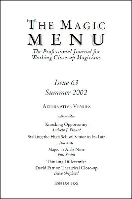 Magic Menu volume 11, number 63 (summer 2002) by Jim Sisti