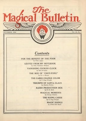 Magical Bulletin Volume 12 (November 1924 - May 1925) by Floyd Gerald Thayer