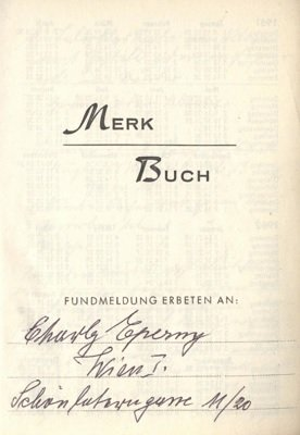 Merkbuch by Charly Eperny