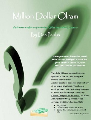 Million Dollar Olram: Bill to Impossible Location by Dan Paulus