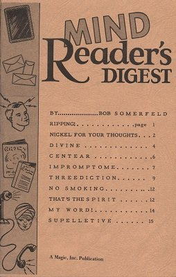 Mind Reader's Digest by Bob Somerfeld
