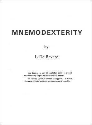 Mnemodexterity by L. De Bevere