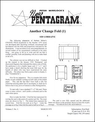 New Pentagram Magazine Volume 3 (March 1971 - February 1972) by Peter Warlock