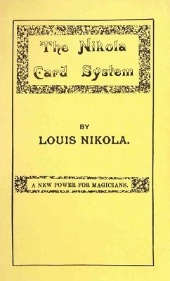 The Nikola Card System by Louis Nikola