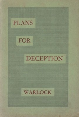 Plans For Deception (used) by Peter Warlock
