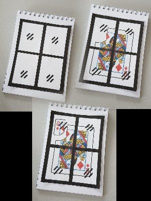 Pocket Cartoon Card Through Window by Ralf (Fairmagic) Rudolph