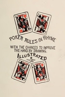 Poker Rules in Rhyme by Geo. W. Allen
