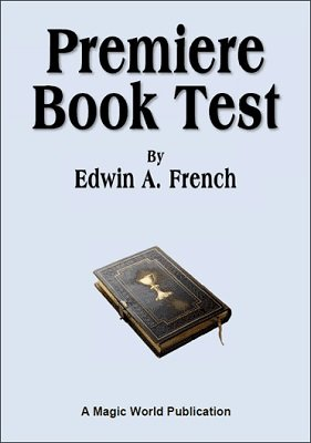 Premiere Book Test by Edwin A. French