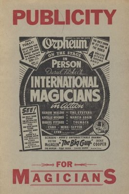 Publicity for Magicians by Robert E. Bernhard