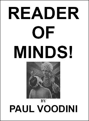 Reader of Minds by Paul Voodini