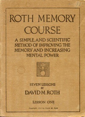 Roth Memory Course by David M. Roth
