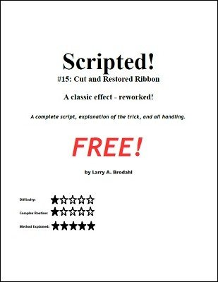 Scripted #15: cut and restored ribbon by Larry Brodahl