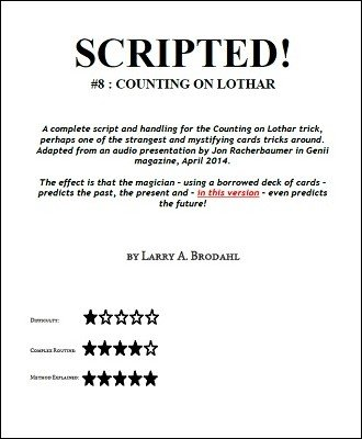 Scripted #8: Counting on Lothar by Larry Brodahl