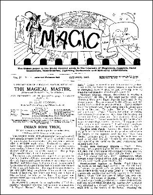 Stanyon's Magic Magazine Volume 9 (Oct 1908 - Sep 1909) by Ellis Stanyon